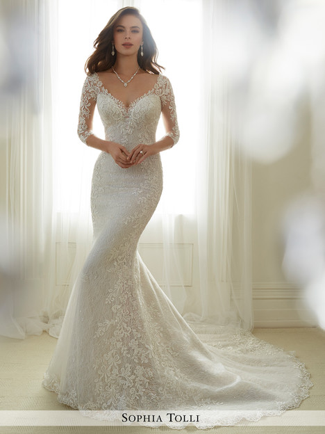 Gabrielle (Y11702) gown from the 2017 Sophia Tolli collection, as seen on Bride.Canada