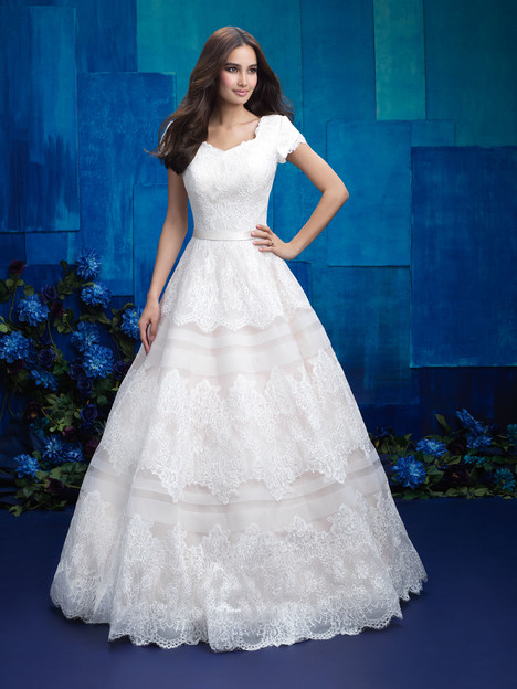 M578 by allure bridals allure modest wedding for Allure modest wedding dresses