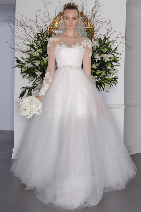 L6134 gown from the 2016 Legends Romona Keveza collection, as seen on Bride.Canada