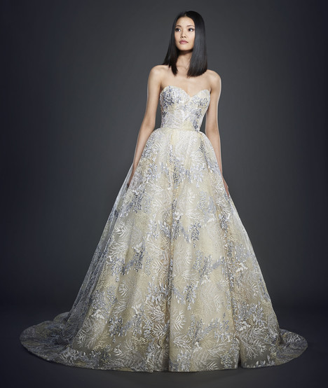 gown from the 2017 Lazaro collection, as seen on Bride.Canada