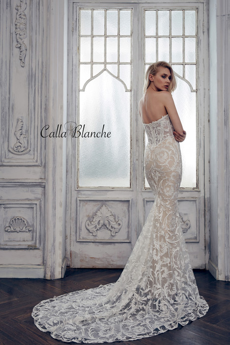 17102 (back) gown from the 2017 Calla Blanche collection, as seen on Bride.Canada