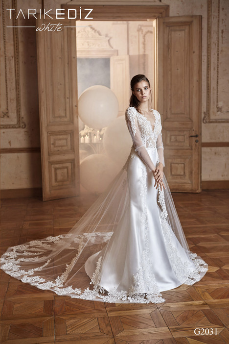 Palermo (G2031) gown from the 2017 Tarik Ediz: White collection, as seen on Bride.Canada