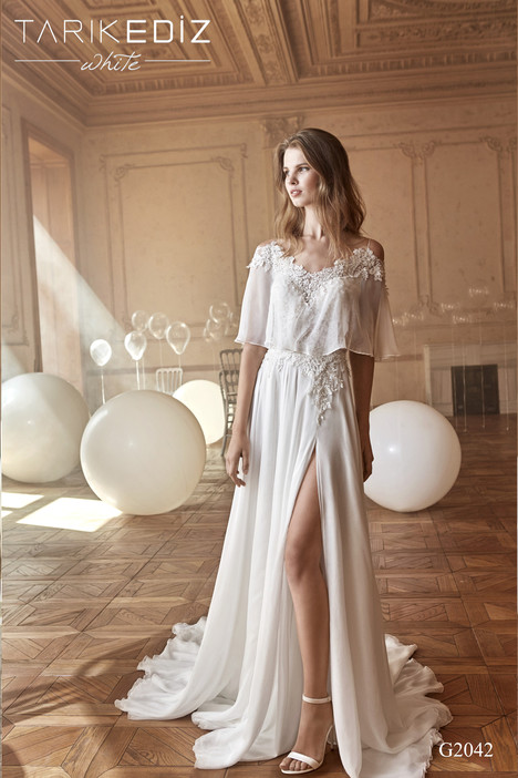 Livorno (G2042) gown from the 2017 Tarik Ediz: White collection, as seen on Bride.Canada