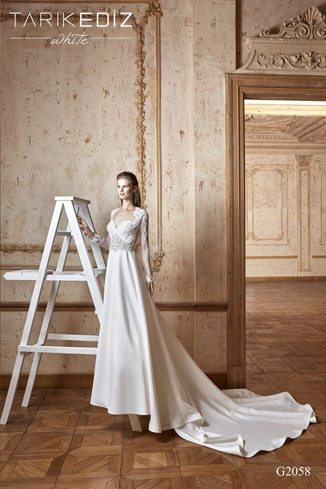 Bilbao (G2058) gown from the 2017 Tarik Ediz: White collection, as seen on Bride.Canada