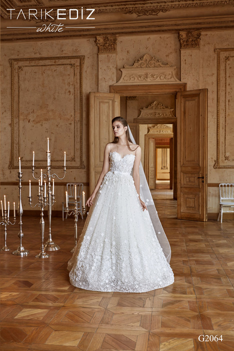 Manchester (G2064) gown from the 2017 Tarik Ediz: White collection, as seen on Bride.Canada