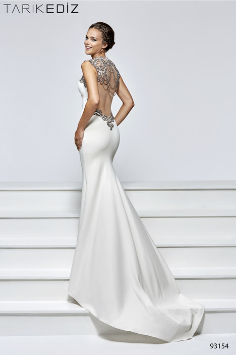 93154 (back) gown from the 2017 Tarik Ediz: Evening Dress collection, as seen on Bride.Canada