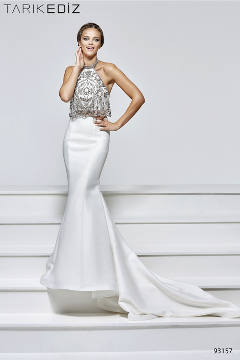 93157 gown from the 2017 Tarik Ediz: Evening Dress collection, as seen on Bride.Canada