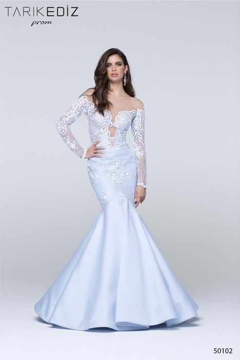 50102 gown from the 2017 Tarik Ediz: Prom collection, as seen on Bride.Canada