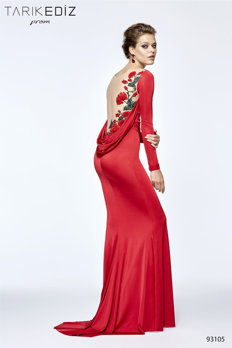 93105 (back) gown from the 2017 Tarik Ediz: Prom collection, as seen on Bride.Canada