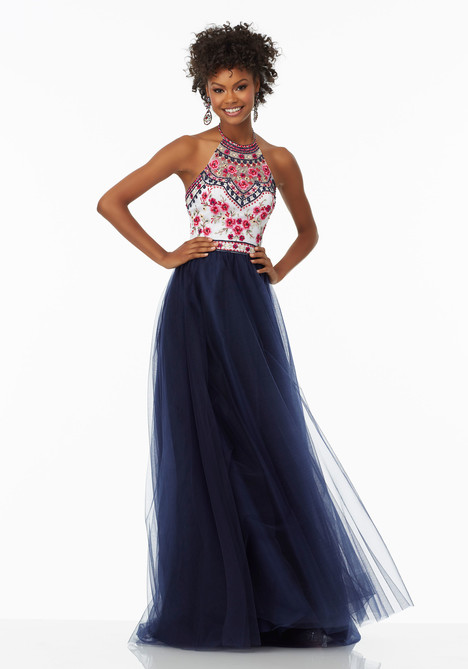 99016 (navy) gown from the 2017 Mori Lee Prom collection, as seen on Bride.Canada