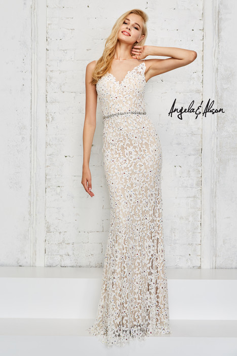 771018 (ivory) gown from the 2017 Angela & Alison Prom collection, as seen on Bride.Canada