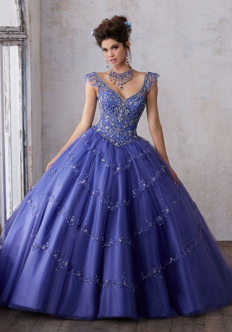 89136 (blueberry) gown from the 2017 Morilee Vizcaya collection, as seen on Bride.Canada
