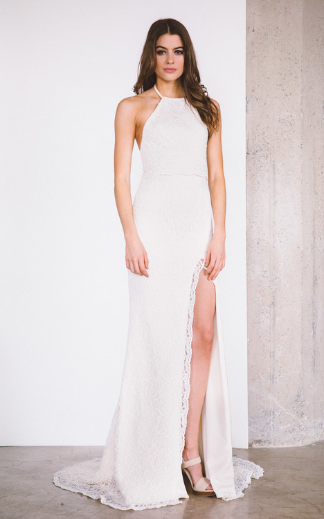 Avalon gown from the 2017 Laudae collection, as seen on Bride.Canada
