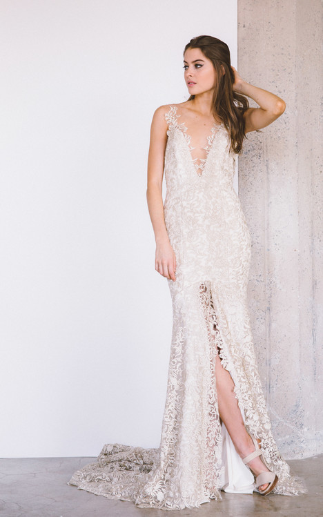 Huntington gown from the 2017 Laudae collection, as seen on Bride.Canada
