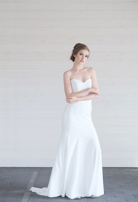 Honor gown from the 2017 Lillian Wild collection, as seen on Bride.Canada
