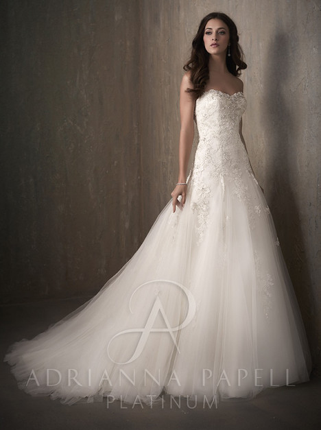 31022 gown from the 2017 Adrianna Papell collection, as seen on Bride.Canada