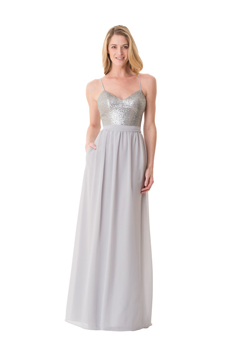 1668 gown from the 2016 Bari Jay Bridesmaids collection, as seen on Bride.Canada