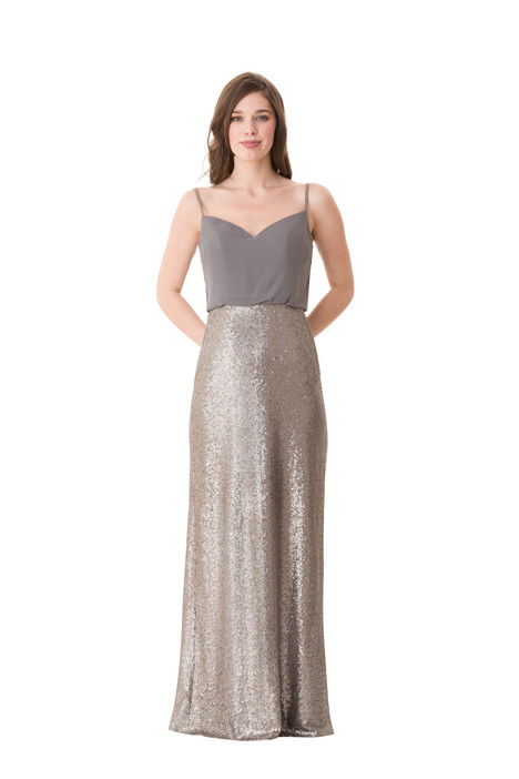 1677 gown from the 2016 Bari Jay Bridesmaids collection, as seen on Bride.Canada
