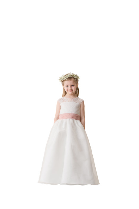 F5716 gown from the 2016 Bari Jay: Flower Girls collection, as seen on Bride.Canada
