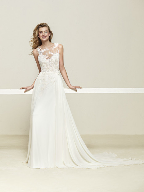 Drepea gown from the 2018 Pronovias collection, as seen on Bride.Canada