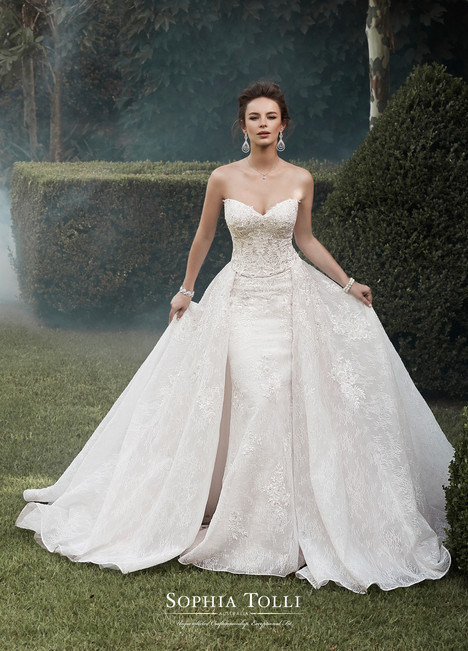 Y21764 (+ overskirt) gown from the 2017 Sophia Tolli collection, as seen on Bride.Canada