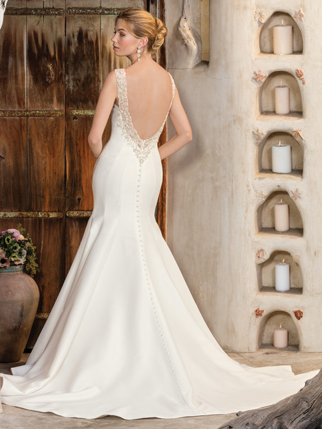 Maya (2300) (back) gown from the 2017 Casablanca Bridal collection, as seen on Bride.Canada