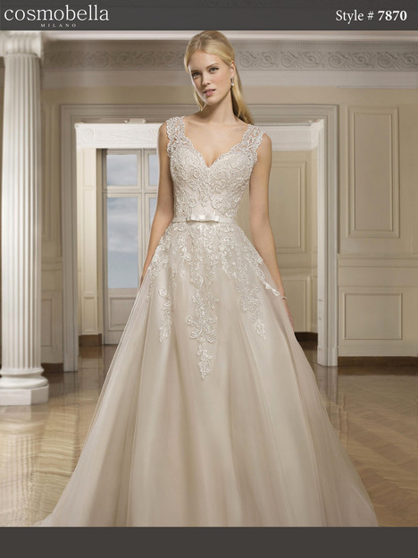 7870 gown from the 2018 Cosmobella collection, as seen on Bride.Canada