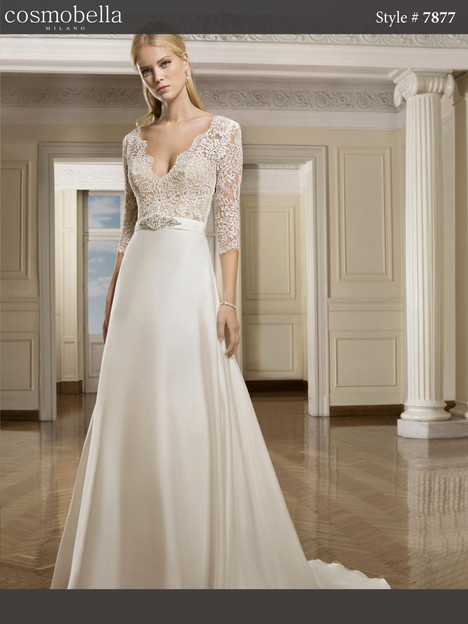 7877 gown from the 2018 Cosmobella collection, as seen on Bride.Canada