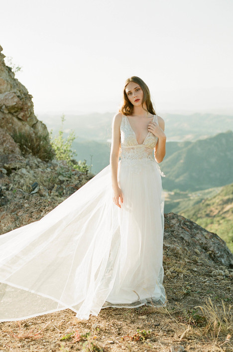 Champagne gown from the 2017 Claire Pettibone: Romantique collection, as seen on Bride.Canada