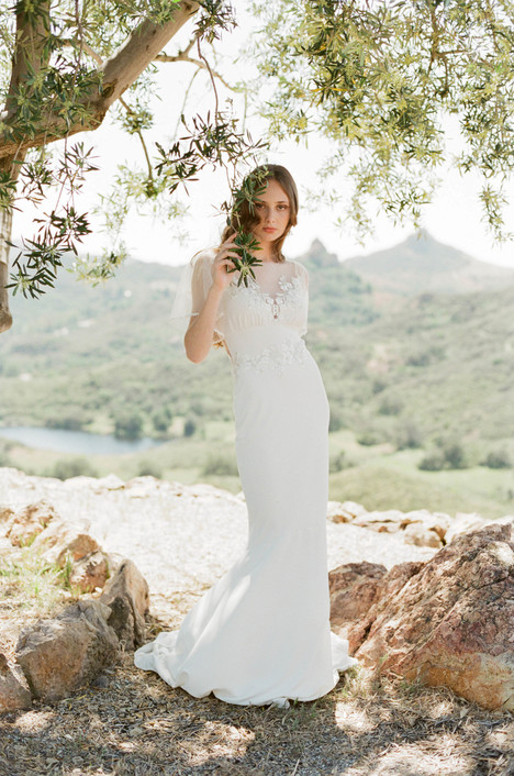Merlot gown from the 2017 Claire Pettibone: Romantique collection, as seen on Bride.Canada