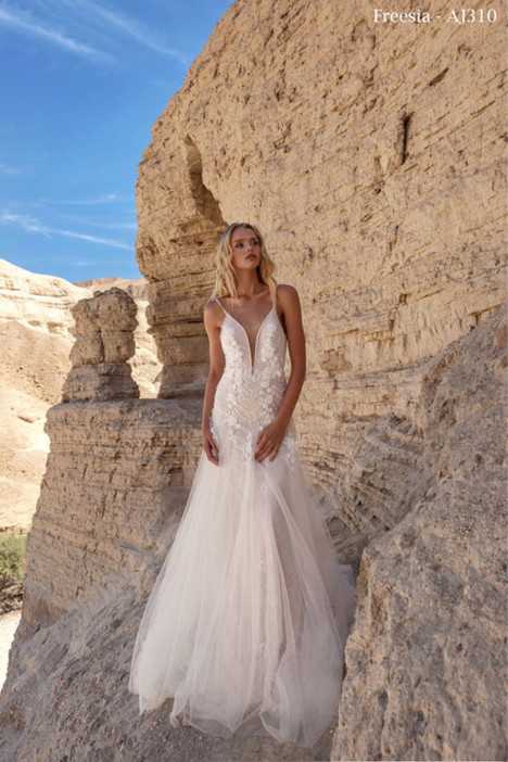 310 gown from the 2018 A&J Collection collection, as seen on Bride.Canada
