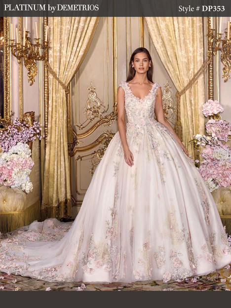 DP353 gown from the 2018 Platinum by Demetrios collection, as seen on Bride.Canada