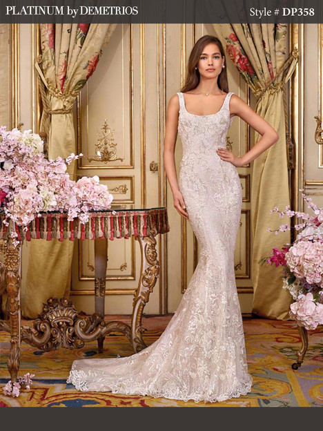 DP358 (2) gown from the 2018 Platinum by Demetrios collection, as seen on Bride.Canada