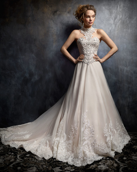 1755 gown from the 2017 Kenneth Winston collection, as seen on Bride.Canada