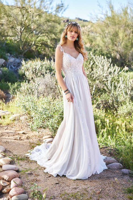 6510 gown from the 2018 Lillian West collection, as seen on Bride.Canada