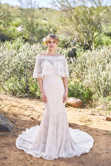 6516 (+ cape) gown from the 2018 Lillian West collection, as seen on Bride.Canada