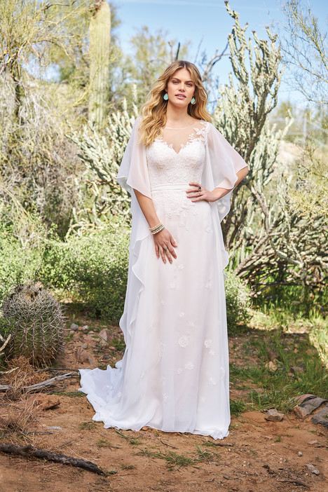 6517 gown from the 2018 Lillian West collection, as seen on Bride.Canada
