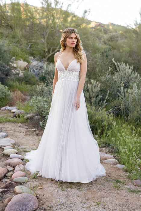 6530 gown from the 2018 Lillian West collection, as seen on Bride.Canada