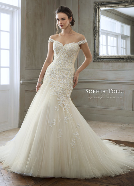 Eleni (Y11884) gown from the 2018 Sophia Tolli collection, as seen on Bride.Canada