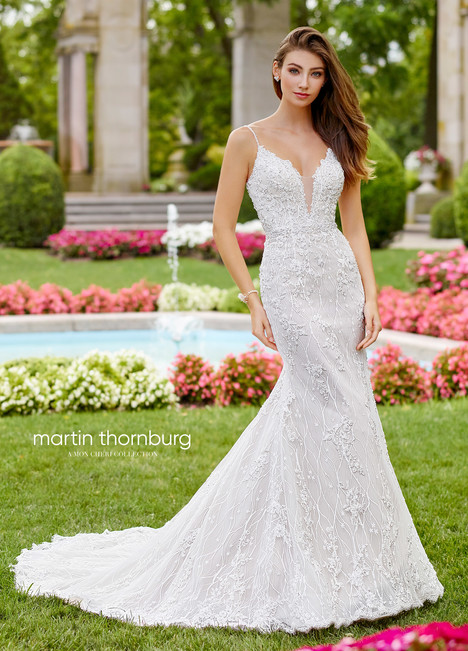Pavane (118252) gown from the 2018 Martin Thornburg for Mon Cheri collection, as seen on Bride.Canada