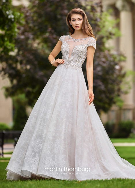 Operetta (118261A) gown from the 2018 Martin Thornburg for Mon Cheri collection, as seen on Bride.Canada