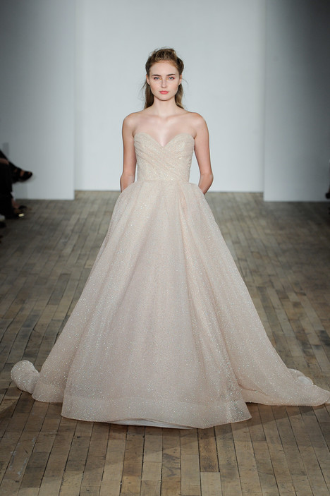 3810 gown from the 2018 Lazaro collection, as seen on Bride.Canada
