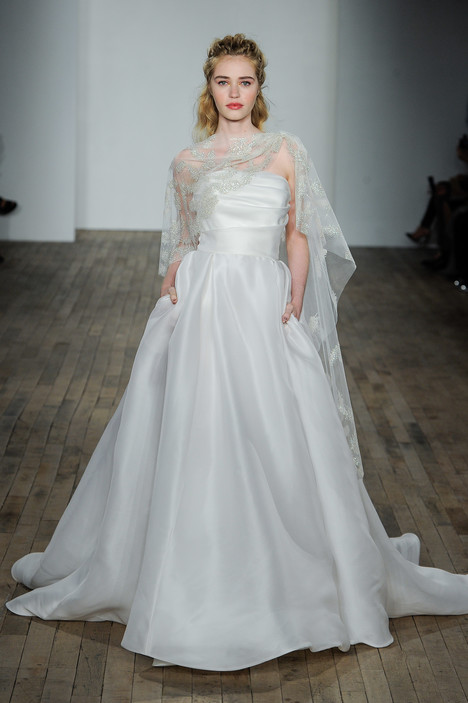 gown from the 2018 Lazaro collection, as seen on Bride.Canada