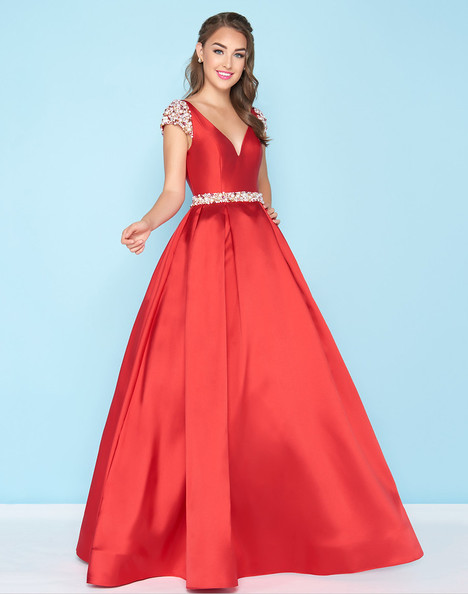40744H (Deep Red) gown from the 2018 Mac Duggal : Ball Gowns collection, as seen on Bride.Canada