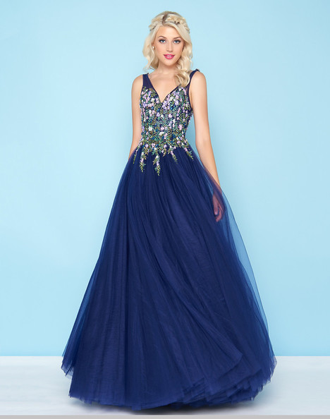 50442H (Indigo) gown from the 2018 Mac Duggal : Ball Gowns collection, as seen on Bride.Canada