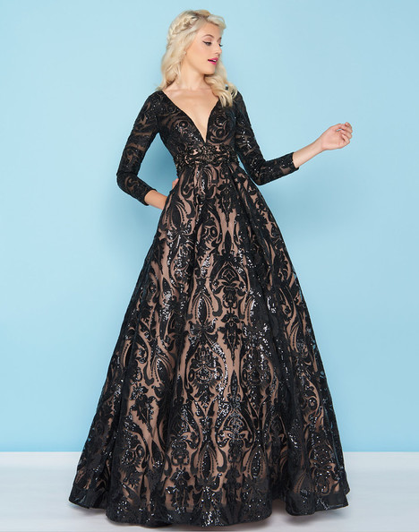 66334H (Black) gown from the 2018 Mac Duggal : Ball Gowns collection, as seen on Bride.Canada