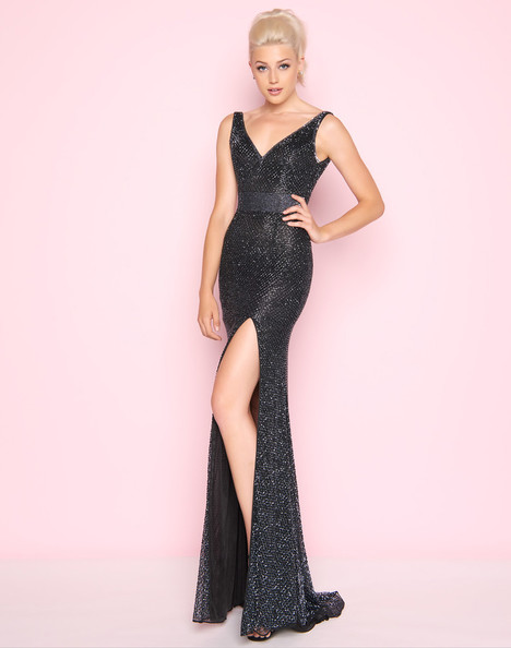 1070L (Gunmetal) gown from the 2018 Mac Duggal : Flash collection, as seen on Bride.Canada