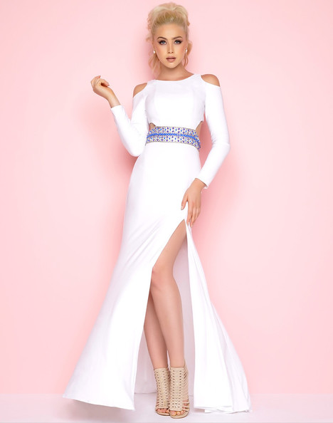 77238L (White) gown from the 2018 Mac Duggal : Flash collection, as seen on Bride.Canada
