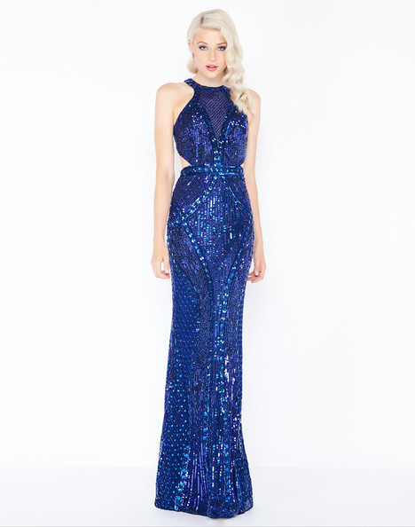 4666M (Indigo) gown from the 2018 Mac Duggal Prom collection, as seen on Bride.Canada