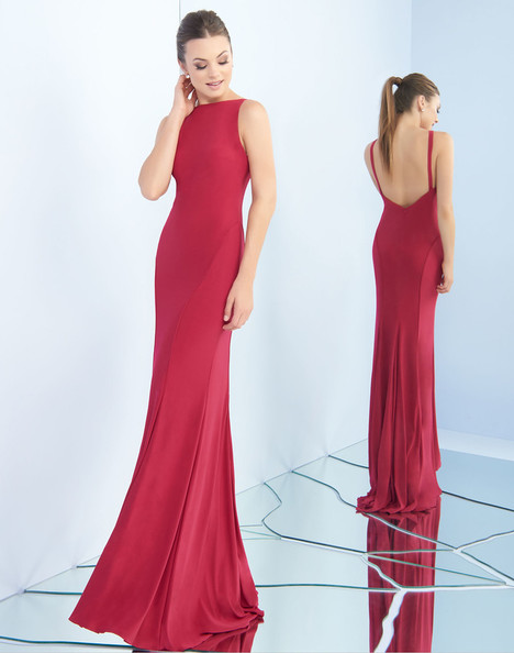 25220i  (Cranberry) gown from the 2018 Ieena Duggal collection, as seen on Bride.Canada